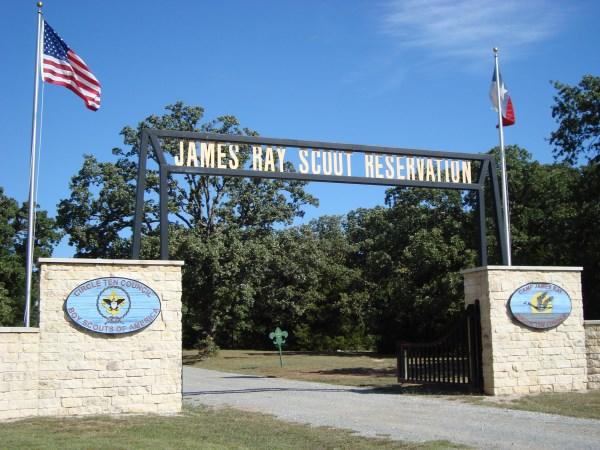 Camp James Ray entrance